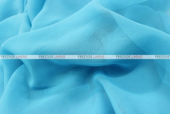 Chiffon - Fabric by the yard - Aqua