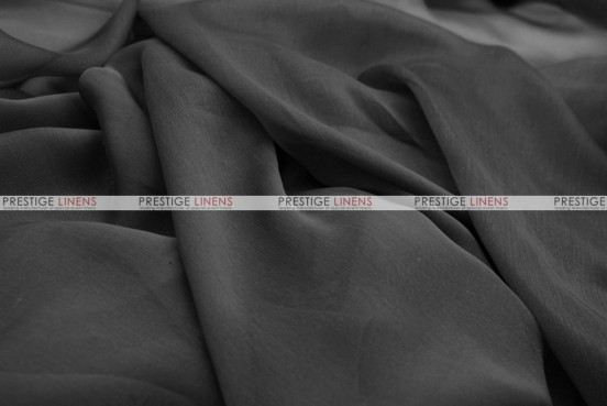 Chiffon - Fabric by the yard - Black