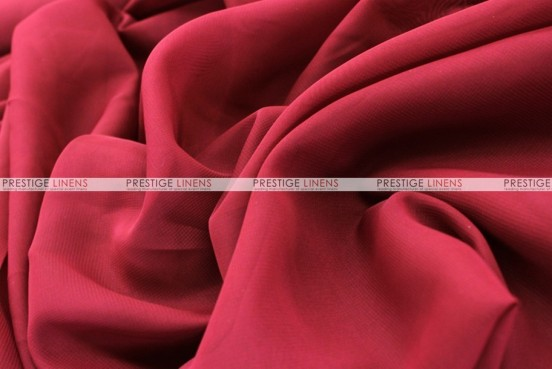 Chiffon - Fabric by the yard - Cranberry