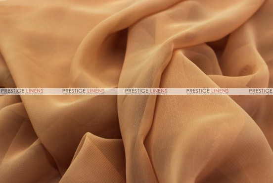 Chiffon - Fabric by the yard - Gold