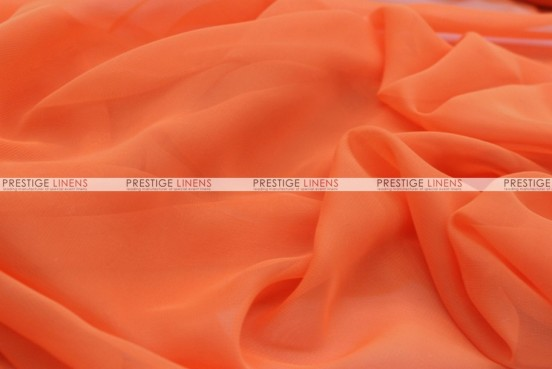 Chiffon - Fabric by the yard - Orange