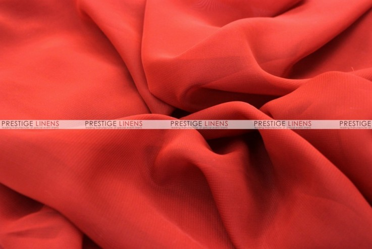 Chiffon - Fabric by the yard - Red