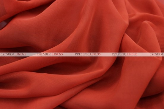 Chiffon - Fabric by the yard - Rust