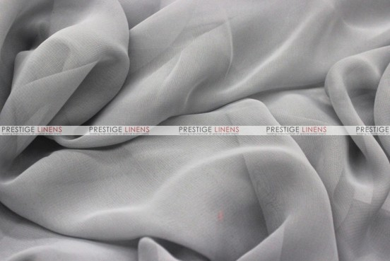 Chiffon - Fabric by the yard - Silver