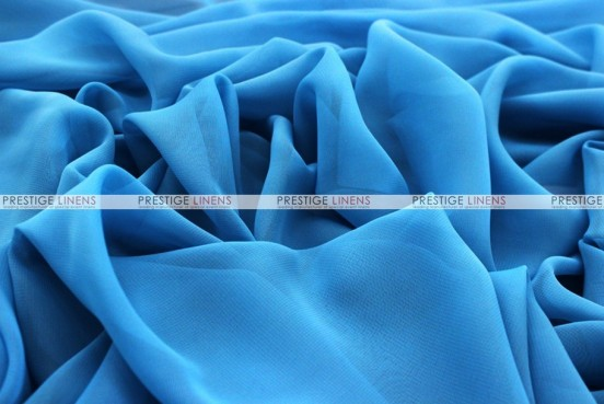 Chiffon - Fabric by the yard - Turquoise