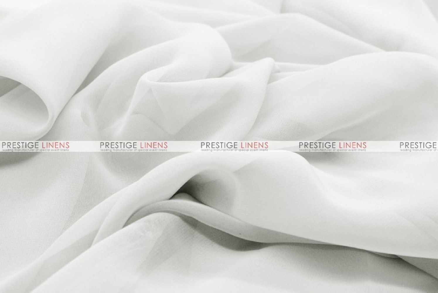 Chiffon - Fabric by the yard - White - Prestige Linens