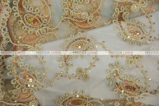 Coco Paisley - Fabric by the yard - Champagne