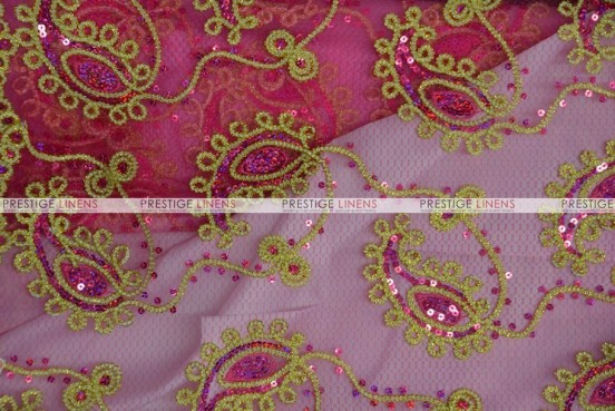 Coco Paisley - Fabric by the yard - Fuchsia