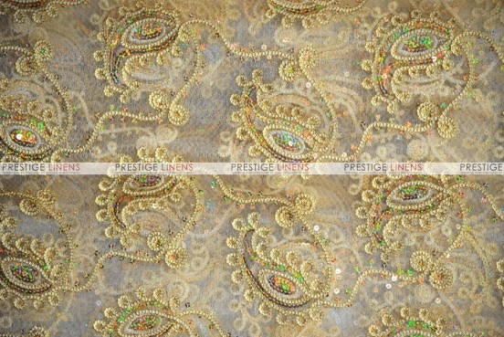 Coco Paisley - Fabric by the yard - Gold