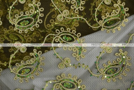 Coco Paisley - Fabric by the yard - Olive