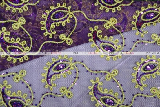Coco Paisley - Fabric by the yard - Plum