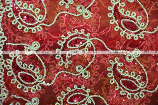 Coco Paisley - Fabric by the yard - Red