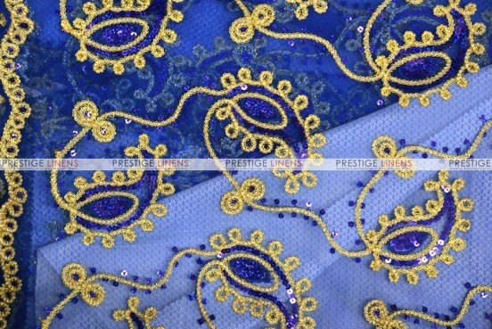 Coco Paisley - Fabric by the yard - Royal