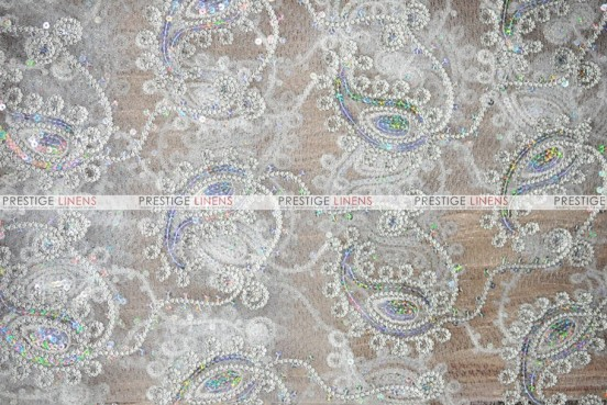 Coco Paisley - Fabric by the yard - Silver
