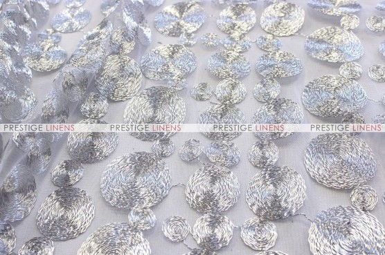 Coins - Fabric by the yard - Silver