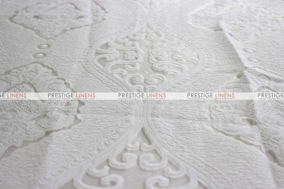 Imperial Damask Draping - White