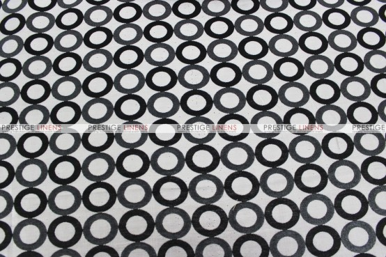 Contempo - Fabric by the yard - Silver/Black