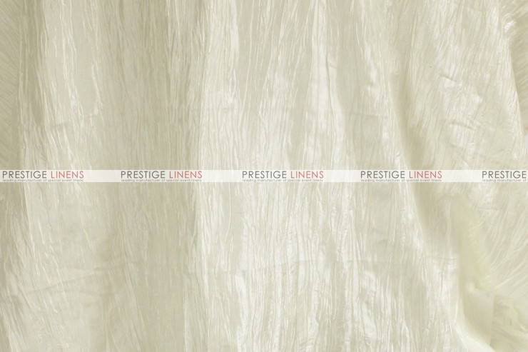 Crushed Taffeta - Fabric by the yard - 128 Ivory