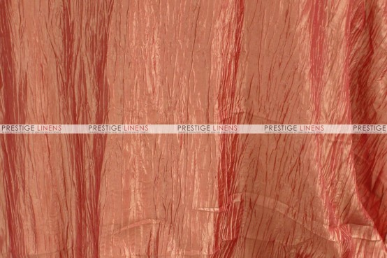 Crushed Taffeta - Fabric by the yard - 432 Coral