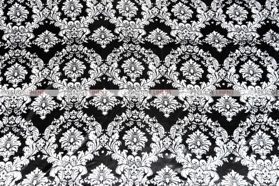 Damask Print Lamour - Fabric by the yard - Black/White
