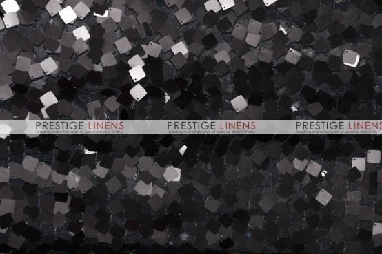 Dazzle Square Sequins - Fabric by the yard - Black