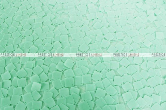 Dazzle Square Sequins - Fabric by the yard - Mint