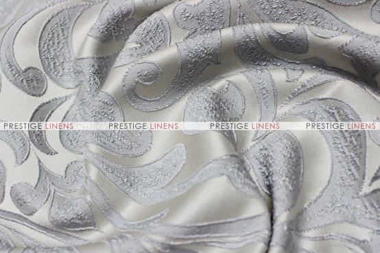 Delta Damask - Fabric by the yard - Silver