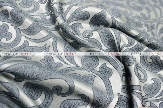 Delta Damask - Fabric by the yard - Smoke
