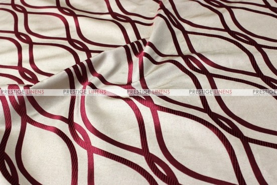 Eliptical Jacquard - Fabric by the yard - Burgundy