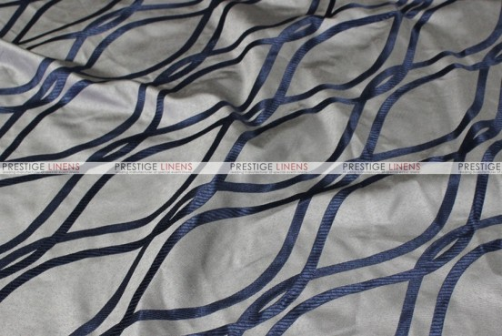 Eliptical Jacquard - Fabric by the yard - Navy