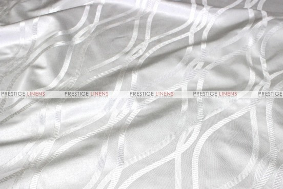 Eliptical Jacquard - Fabric by the yard - White