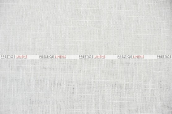 Faux Sheer Linen - Fabric by the yard - White