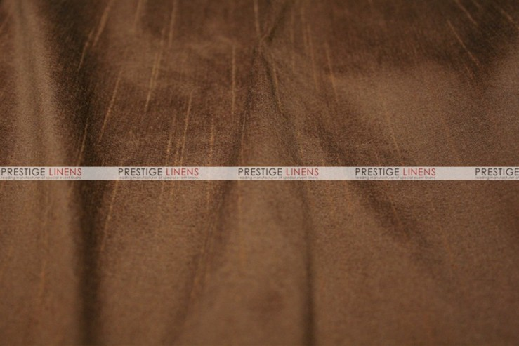 Faux Silk Dupioni - Fabric by the yard - 2042 Brown