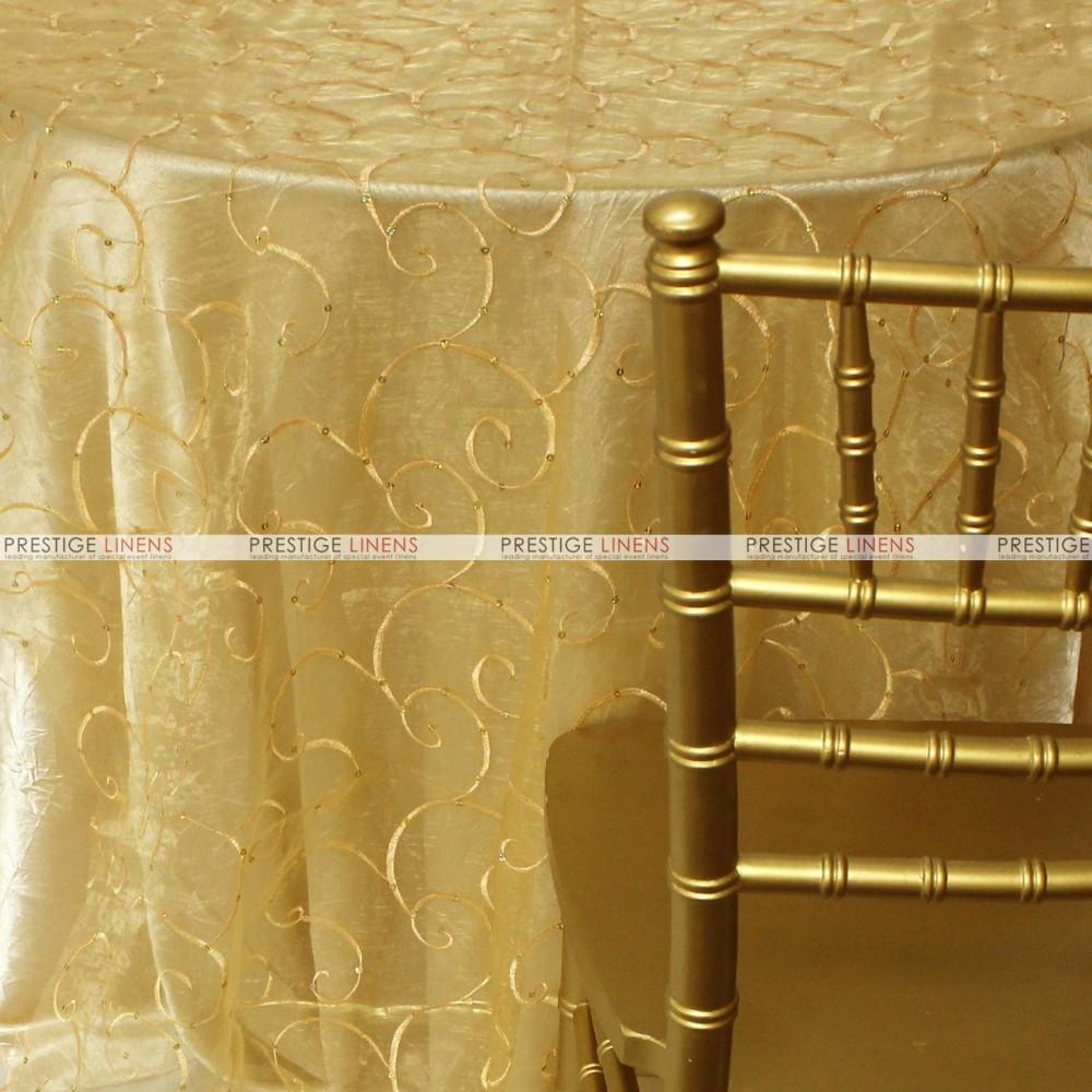 Ferial organza fabric by the yard gold prestige linens - Salon prestige organza ...