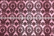 Flocking Damask Taffeta - Fabric by the yard - Pink/Black
