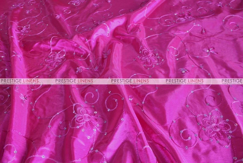 Floral Sequins Taffeta Fabric By The Yard Fuchsia