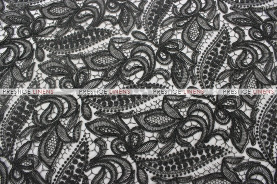French Lace - Fabric by the yard - Black