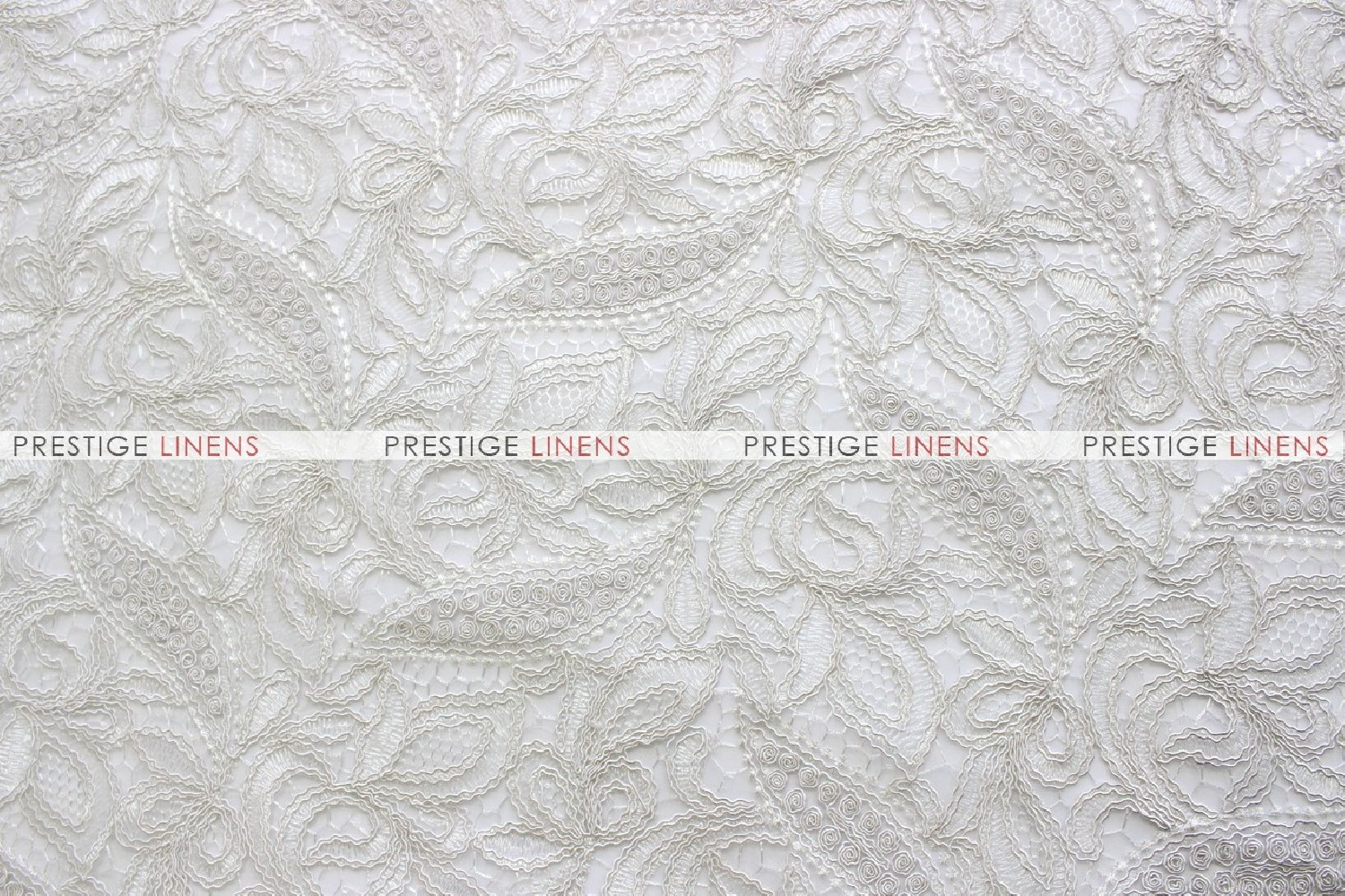 French Lace Fabric By The Yard Ivory Prestige Linens