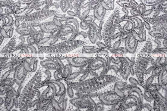 French Lace - Fabric by the yard - Silver