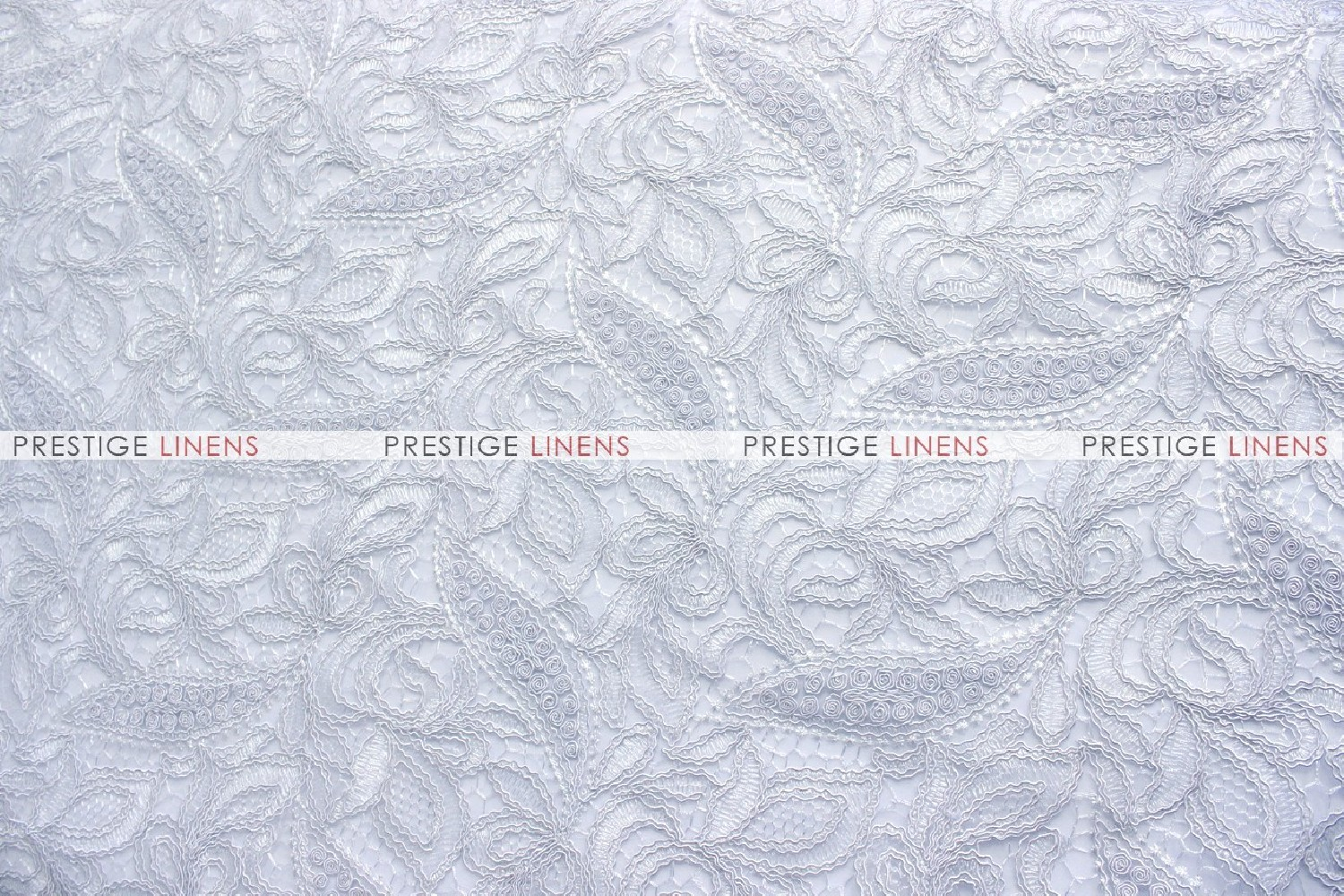 French lace fabric by the yard white prestige linens for Cheap fabric by the yard