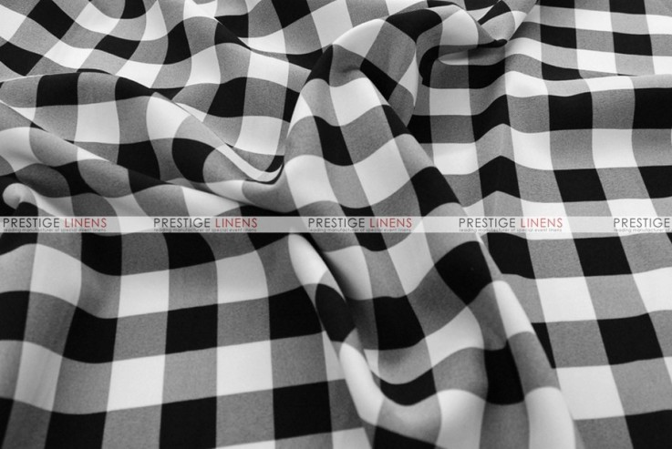 Gingham Buffalo Check - Fabric by the yard - Black