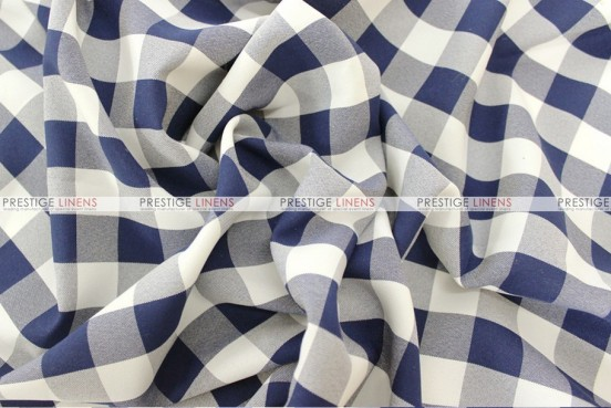 Gingham Buffalo Check - Fabric by the yard - Navy