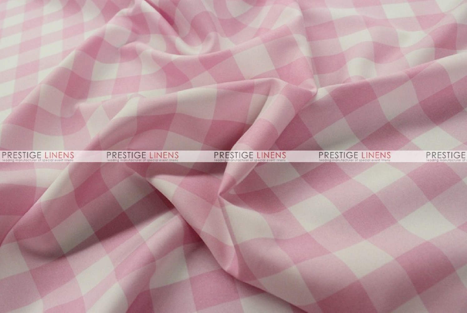 Gingham Buffalo Check Fabric By The Yard Pink