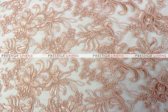 Giselle Net Embroidery - Fabric by the yard - Blush
