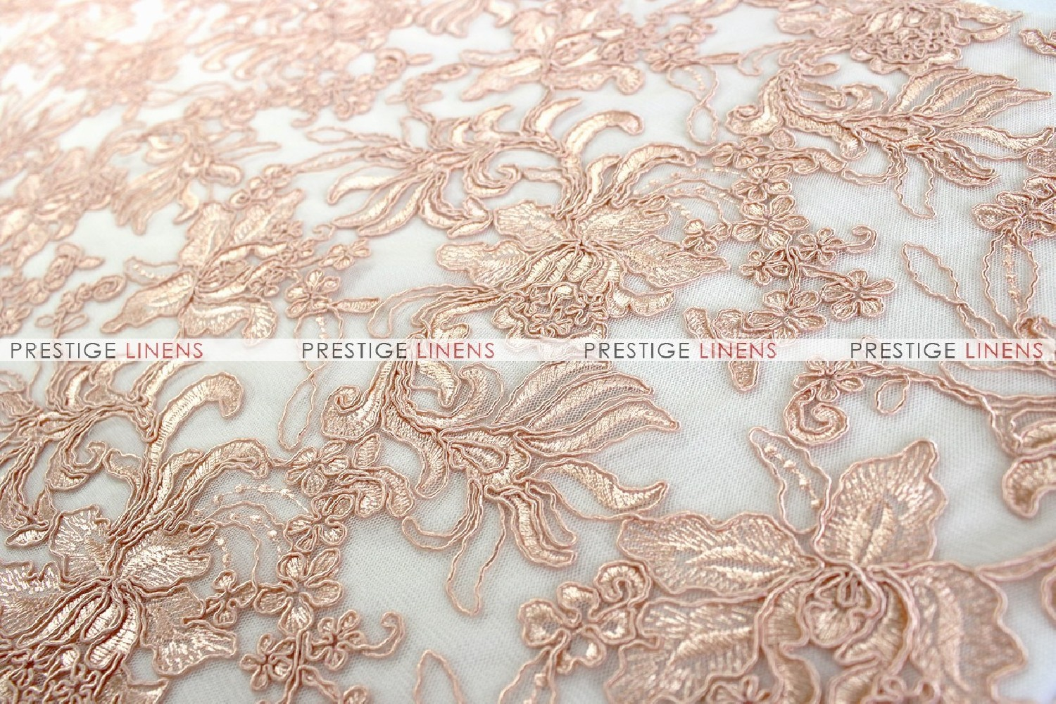 Giselle net embroidery fabric by the yard blush