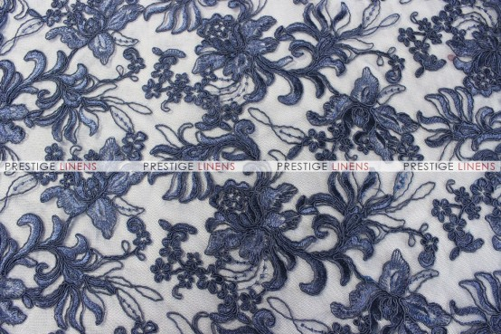 Giselle Net Embroidery - Fabric by the yard - Navy
