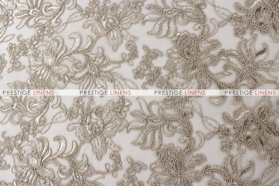 Giselle Net Embroidery - Fabric by the yard - Taupe