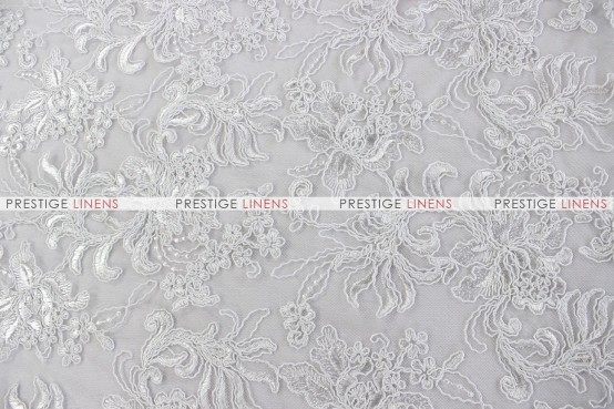 Giselle Net Embroidery - Fabric by the yard - White