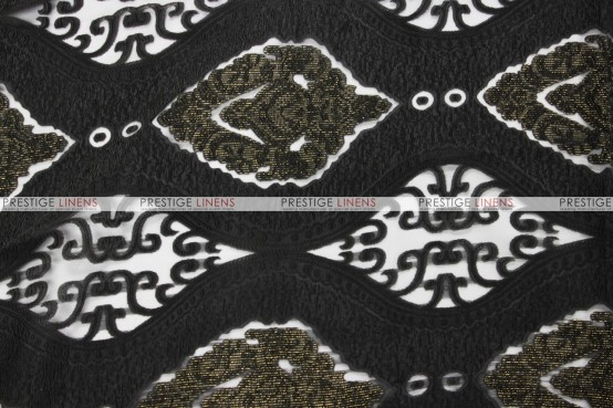 Imperial Damask - Fabric by the yard - Black
