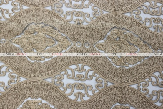 Imperial Damask - Fabric by the yard - Champagne